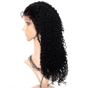 BRAZILIAN FULL LACE WIGS #2(DARKEST BROWN) 20 INCH JERRY CURL VIRGIN HUMAN HAIR[FLC050]