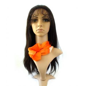 18inches #1B Off Black Silky Straight Brazilian Virgin Hair Glueless Full Lace Wigs [GFL314]