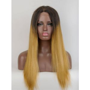 20inch straight Ombre color brazilian virgin hair Full Lace Wig Celebrity lace wigs