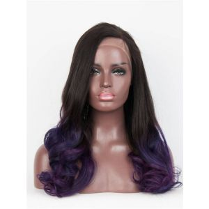 18inch wavy Ombre color brazilian virgin hair Full Lace Wig Celebrity lace wigs