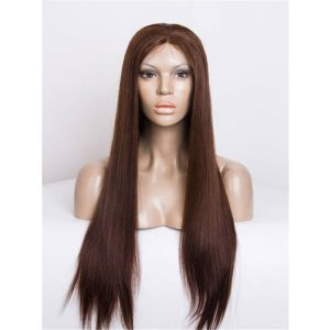 24inch yaki straight color Full Lace Wig Celebrity lace wigs