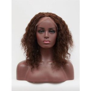14inch deep wavy #4 light brown Full lace wig customized lace wig