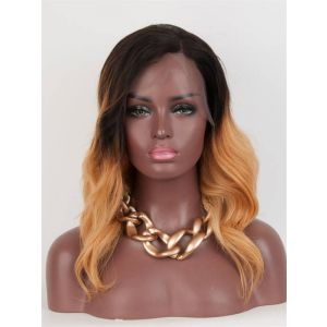 12inch Loose Wave Ombre color brazilian virgin hair Celebrity Full lace wigs