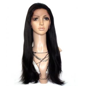 INDIAN REMY HAIR 20INCHES 1B FULL LACE WIGS LIGHT YAKI STRAIGHT [FLS319]